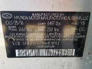 26152869 SONATA SE HYUNDAI