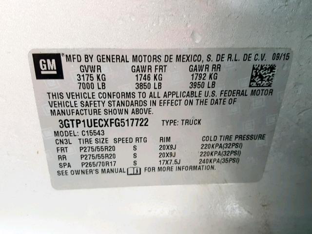 25723029 SIERRA C1500 SLE GMC