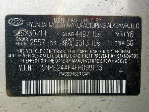 29925929 SONATA SE HYUNDAI